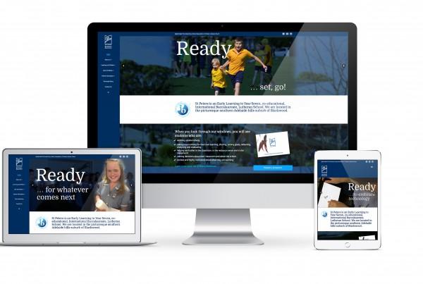 Website design for St Peters Lutheran School Blackwood
